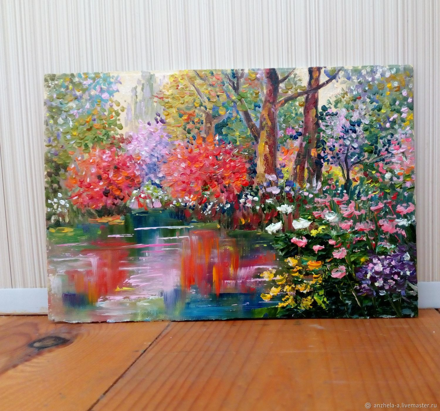 Painting 'in the shadow of a wild pond' miniature, Pictures, Moscow,  Фото №1