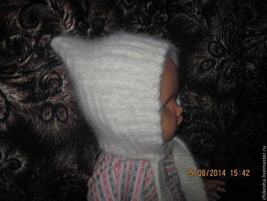 Шапки и шарфы ручной работы. Ярмарка Мастеров - ручная работа. Купить шапочка для малыша №13. Handmade. Белый, детская одежда