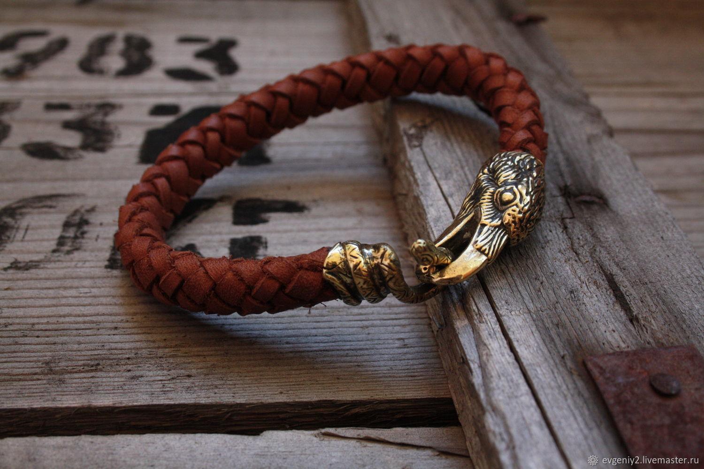 Leather bracelet with Raven, Bead bracelet, Volgograd,  Фото №1