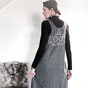 Одежда ручной работы. Ярмарка Мастеров - ручная работа Сарафан теплый Хан-чай 4848. Handmade.