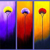 Картины и панно handmade. Livemaster - original item Abstract painting-triptych. Handmade.