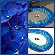 Материалы для творчества handmade. Livemaster - original item Spinel color St.blue cut 2 mm. Thread. Handmade.