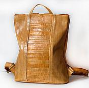 Портфель ручной работы. Ярмарка Мастеров - ручная работа Женский кожаный ранец. Handmade.