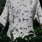 Одежда ручной работы. Ярмарка Мастеров - ручная работа Блуза в технике Шерстяное Ришелье. Handmade.