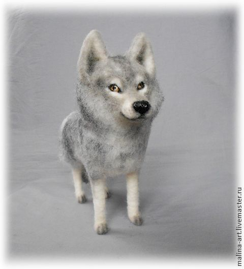 Игрушки животные, ручной работы. Ярмарка Мастеров - ручная работа. Купить Волк (из войлока-сухое валяние). Handmade. Серый