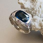 Украшения handmade. Livemaster - original item Vedic silver ring with Blue Sapphire (1,89 ct)handmade. Handmade.