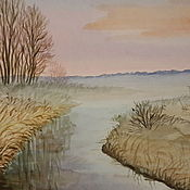 Картины и панно ручной работы. Ярмарка Мастеров - ручная работа Туманное утро. Handmade.