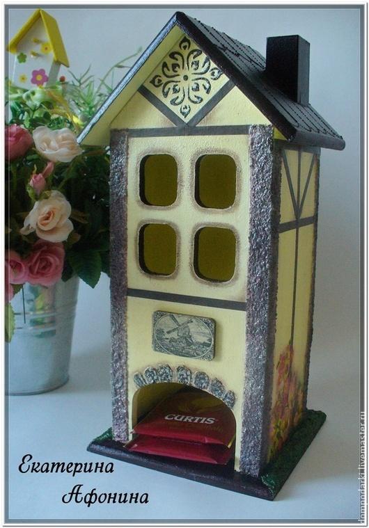 """Кухня ручной работы. Ярмарка Мастеров - ручная работа. Купить Чайный домик по мотивам """"Путешествуя по Европе"""". Handmade. Желтый"""
