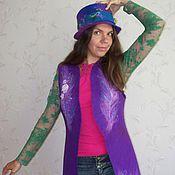 Одежда handmade. Livemaster - original item Felted vest Mystery of the night. Handmade.