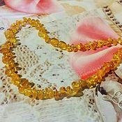 Работы для детей, handmade. Livemaster - original item beads: Baby amber beads gift decoration for girl 35cm. Handmade.
