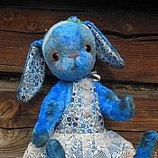 Куклы и игрушки ручной работы. Ярмарка Мастеров - ручная работа Большая плюшевая зайка Тедди Незабудка- винтажный Тедди. Handmade.