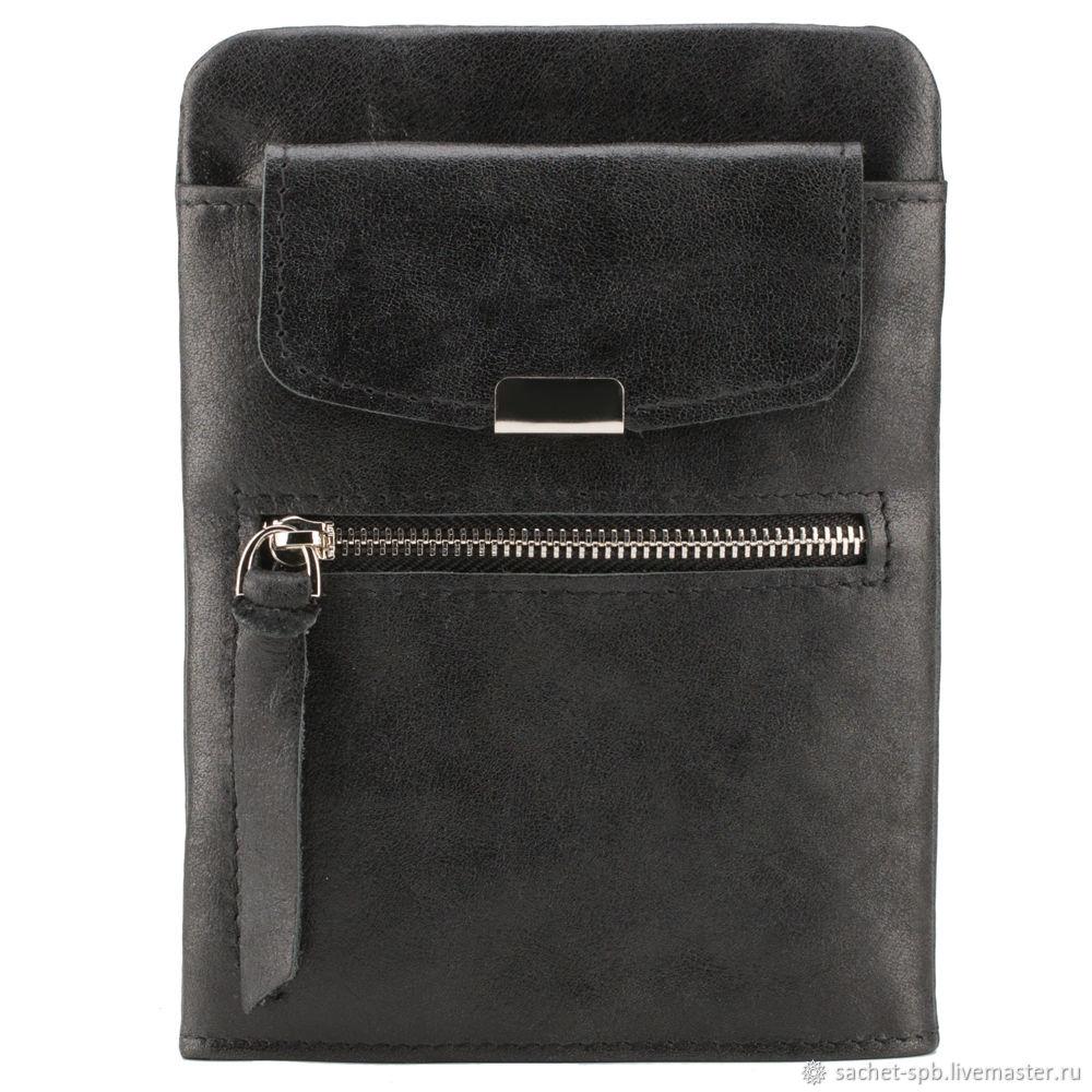 Leather bag 'brad' (black), Classic Bag, St. Petersburg,  Фото №1