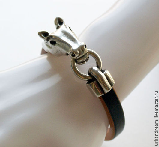 Украшения для мужчин, ручной работы. Ярмарка Мастеров - ручная работа. Купить Кожаный браслет.Браслеты из кожи.. Handmade. Мужской браслет