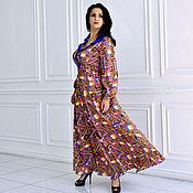 Одежда ручной работы. Ярмарка Мастеров - ручная работа Платье яркое (лен-сатин). Handmade.