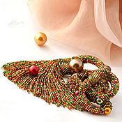 Украшения handmade. Livemaster - original item Amber-ruby anemone - necklace. Handmade.