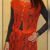 Одежда ручной работы. Ярмарка Мастеров - ручная работа Оранжевое настроение Юбка Костюм. Handmade.