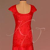 Одежда handmade. Livemaster - original item Evening dress scarlet rose. Handmade.