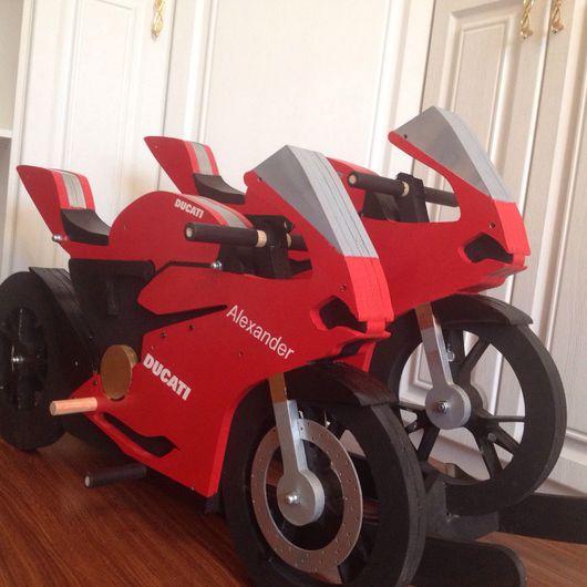 Детская ручной работы. Ярмарка Мастеров - ручная работа. Купить Мотик-качалка Ducati Panigale. Handmade. Качалка, дети, ребенок