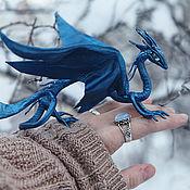 Куклы и игрушки ручной работы. Ярмарка Мастеров - ручная работа Дракон - Сапфира. Handmade.