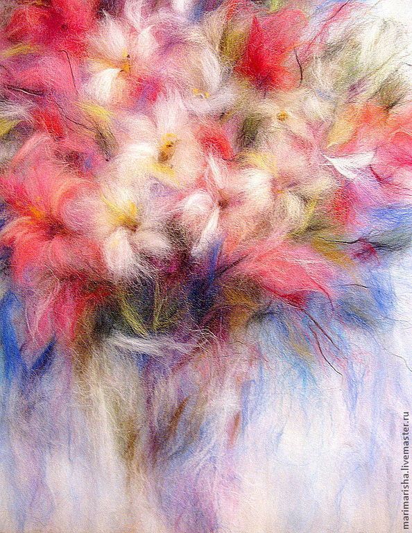 Picture of wool Floral Rhapsody of Tenderness, Pictures, St. Petersburg,  Фото №1