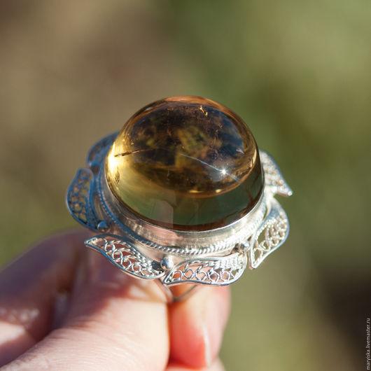 Кольца ручной работы. Ярмарка Мастеров - ручная работа. Купить Цитрин (кольцо) (55). Handmade. Натуральные камни, натуральный камень