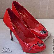 Обувь ручной работы handmade. Livemaster - original item Painting on shoes. Patent leather shoes