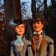 Коллекционные куклы ручной работы. Портретные куклы  (упрощенные) Филиас Фогг и Ауда. Авторская студия 'OleLoo'. Интернет-магазин Ярмарка Мастеров.
