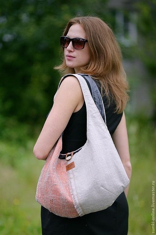 Женские сумки ручной работы. Ярмарка Мастеров - ручная работа. Купить Сумка-торба летняя из льна. Handmade. Торба, туфли
