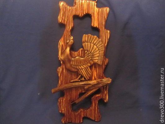 """Животные ручной работы. Ярмарка Мастеров - ручная работа. Купить Панно """"Глухарь"""". Handmade. Коричневый, панно из дерева, липа, лак"""