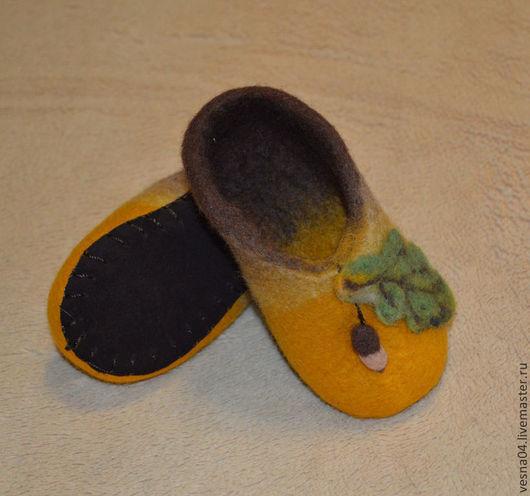 """Обувь ручной работы. Ярмарка Мастеров - ручная работа. Купить Валяные детские тапочки """" Осень"""" 100% шерсть.. Handmade."""