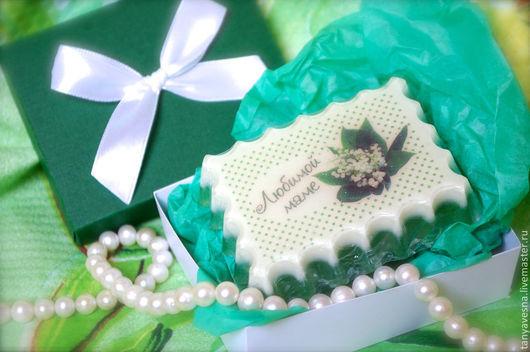 Мыло ручной работы. Ярмарка Мастеров - ручная работа. Купить Мыло Ландыш для сестры, мамы, подруги (в подарочной коробочке). Handmade.