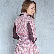 Одежда handmade. Livemaster - original item Dress shirt Pugovkina /buttons on a lilac background/. Handmade.