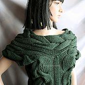 Одежда handmade. Livemaster - original item Green tank top with braids. Handmade.