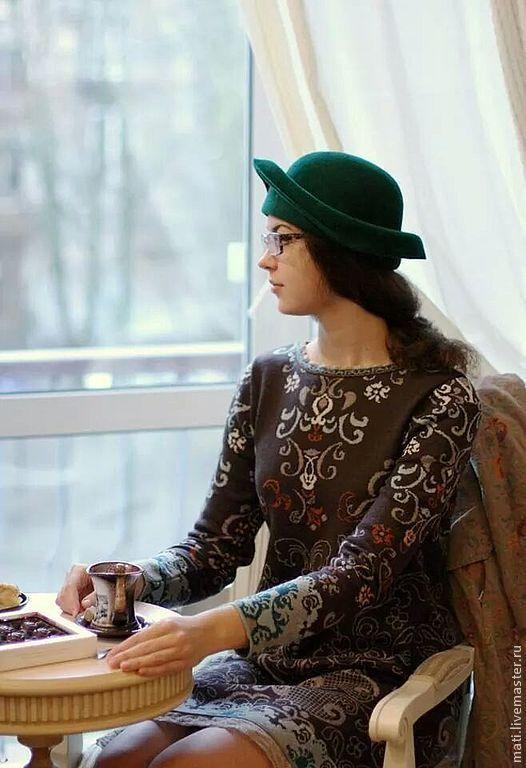 """Шляпы ручной работы. Ярмарка Мастеров - ручная работа. Купить шляпка """"Изумрудная"""". Handmade. Морская волна, шляпка женская"""