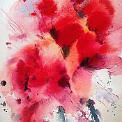 Картины и панно ручной работы. Ярмарка Мастеров - ручная работа Акварель Маки. Handmade.