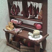 Куклы и игрушки handmade. Livemaster - original item Meat counter for Dollhouse miniatures - furniture for dolls. Handmade.