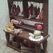 Мебель для кукол ручной работы. Ярмарка Мастеров - ручная работа Мясной прилавок для кукольной миниатюры - мебель для кукол. Handmade.