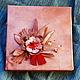 """Фотоальбом выполнен в стиле """" Стимпанк"""", кожаная  обложка украшена брошкой  в виде цветка, использованы натуральные камни."""