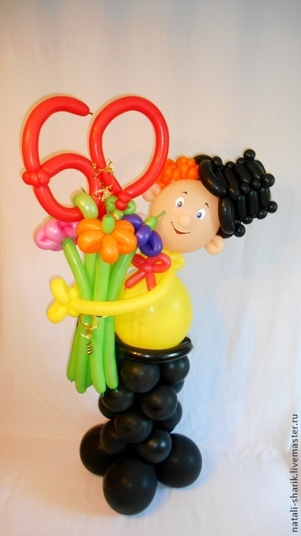 Подарок для мужчины из воздушных шаров 57