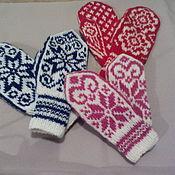 Аксессуары handmade. Livemaster - original item mittens knitted. Handmade.