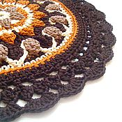 Для дома и интерьера handmade. Livemaster - original item mat mandala knit handmade cord bedside. Handmade.