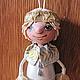 """Человечки ручной работы. Сувенирная куколка""""Девочка-припевочка"""". Ариша. Ярмарка Мастеров. Подарок на любой случай, Нитки Ирис"""