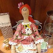 Кукла по мотивам Тильды- Чайная фея Прасковья