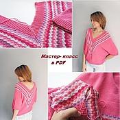 Материалы для творчества handmade. Livemaster - original item Master class on knitting sweaters Berry mix. Handmade.