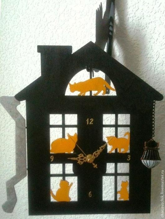 """Часы для дома ручной работы. Ярмарка Мастеров - ручная работа. Купить Часы настенные """"Ночь.Улица.Фонарь..."""". Handmade."""