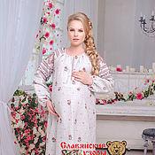 """Одежда handmade. Livemaster - original item Платье хлопковое """"Добромира"""" цветы. Handmade."""