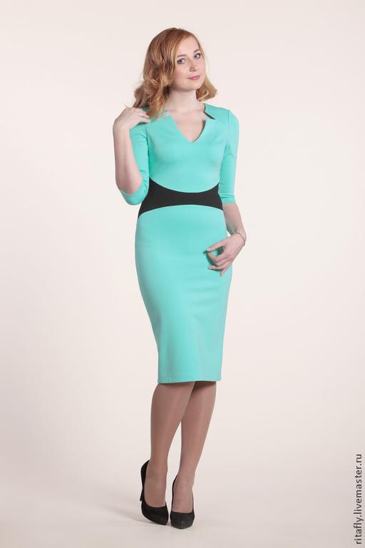 Женское платье офисный вариант фото