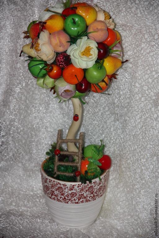 Топиарий из разных фруктов фото