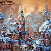 Картины и панно handmade. Livemaster - original item Painting landscape AND the SNOW was FALLING... (series Golden city). Handmade.