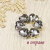 Материалы для творчества handmade. Livemaster - original item Glass rhinestones Heart 10mm Black diamond. Handmade.
